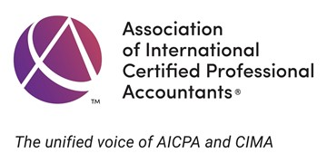 Association of International Certified Professional Accountants (AICPA) logo